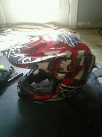 red and black full-face helmet Florence, 35630