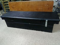 "61""black aluminum crossbed  Truck toolbox w / latches.  Norfolk, 23503"