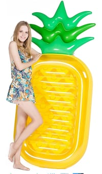 "asonwell Giant 76"" Pineapple Pool Party Float Raft Summer Beach Swimming Pool Inflatable Floatie Lounge Pool Loungers Decorations Toys for Adults & Kids 阿卡迪亚, 91007"