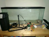 Fish tank, filter, and table 54 km