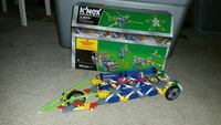 KNex building with car and Rollercoaster