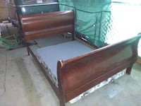 brown and black wooden bed frame Walnut Grove, 95690