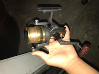 gray and black fishing reel KEAAU