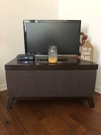 Dark brown end table with storage Ashburn