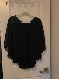 women's black scoop-neck blouse Vaughan, L4L 0G8