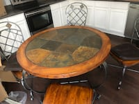 Mosaic Stone Dining room table with iron legs and 4 chairs included Murfreesboro, 37128