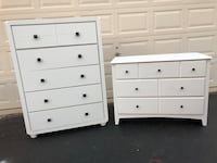 Set of 2 White Dressers  Manassas, 20112