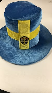 Blue and yellow suede hat Vienna, 22180
