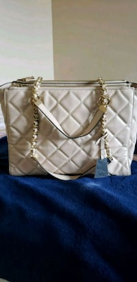 white and brown leather tote bag Regina, S4S