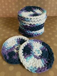 12 face scrubbies, all cotton