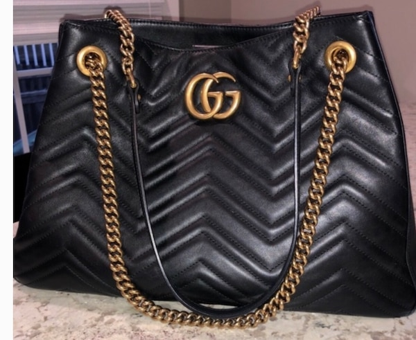 8fa0d37dc2e7 Used black leather Michael Kors tote bag for sale in New York - letgo