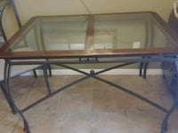 rectangular glass-top table with black steel base Ottawa, K1C 1W8