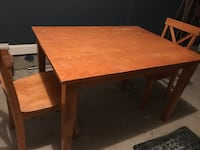 rectangular brown wooden table with chairs Mirabel, J7J 0A9