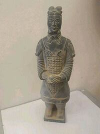 Chinese soldier figurine statue