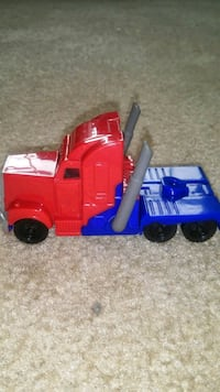 red and blue plastic toy truck Arlington, 22204