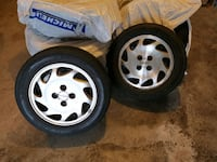 "2x Acura 15"" 4x100 pattern wheels with spare tire Coquitlam"