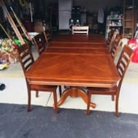 rectangular brown wooden table with four chairs dining set Mechanicsville, 23116