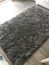 Dark Grey Rug - high pile, 133x195cm Toronto, M5B