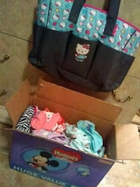 Bix full of girl clothes and diaper bag West Palm Beach, 33415