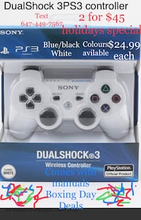 PS3 controller dual shock 3 2 for $45 Toronto, M1P 5H4