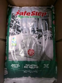 50lbs safestep ice melt!! $15 each firm on price  Crestwood