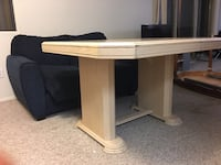 Rectangular white wooden table Kelowna