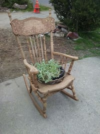 green leaf plants and brown wooden rocking chair Everett, 98208