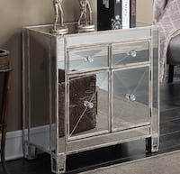 NEW mirrored chest cabinet