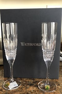 New in box Waterford Champagne flutes Boston, 02122