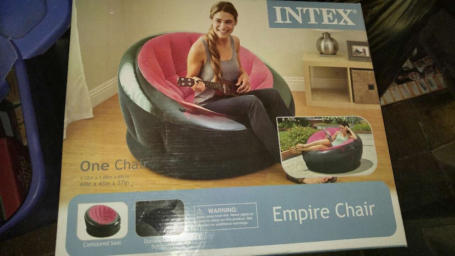 letgo - Intex Inflatable Empire Chair in Chichester, PA