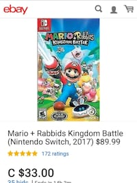 Mario + Rabbids Kingdom battle pre-owned Langley Township, V4W 3A2