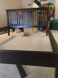 Brown wooden bed frame Chilliwack, V2P 4C5