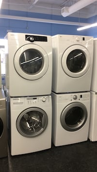 two white front-load clothes washer and dryer set Toronto, M3J 3K7