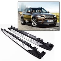 07-13 BMW E70 X5 xDrive Aluminum Running Board Foot Side Step Rail Bar OE Style La Puente