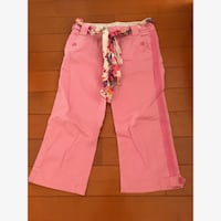 American Eagle Capris (pink with sash)