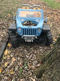 Jeep hurricane power wheel. Will need a battery at Walmart or toys r us has them.  Kids have out grown it.