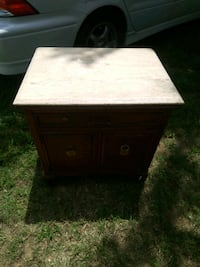 Antique nightstand with stone countertop Monroe, 28112