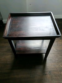 square brown wooden side table Ponte Vedra Beach, 32082