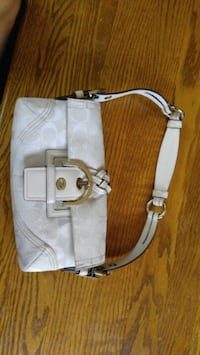 white and brown leather crossbody bag Silver Spring, 20906