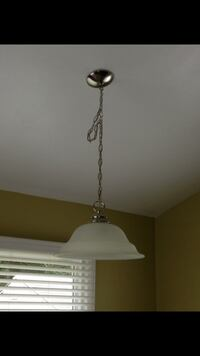 White and silver pendant swag light