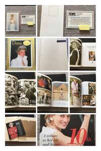 Princess Diana book and 1997 postage stamp wt certificate