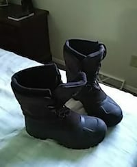Winter black leather work boots Muskego, 53150