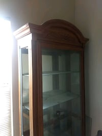 brown wooden framed glass display cabinet Pleasanton, 94566