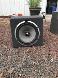 Black and gray 12 inch Planet Audio Subwoofer Lake Forest Park, 98155