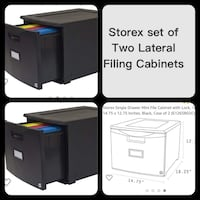Storex Lateral Filing Cabinets New 2 Cabinets with locks and keys  Las Vegas, 89117