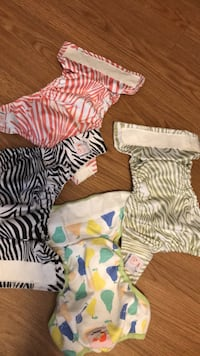 4 KAWII BABY CLOTH DIAPERS