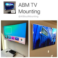 Tv Mounting & Concealed Cables Wall Mount Curved 4k UltraHD HD LED LCD Houston, 77002