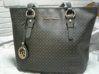 gray leather tote bag Queens, 11412