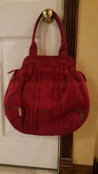 red and black leather backpack Calgary, T3G 4M7