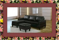 Black sectional free ottoman and delivery  Alexandria, 22305